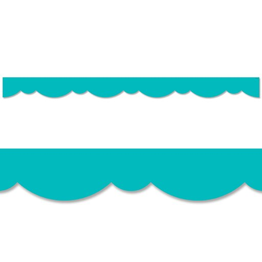 TURQUOISE STYLISH SCALLOPS BORDER
