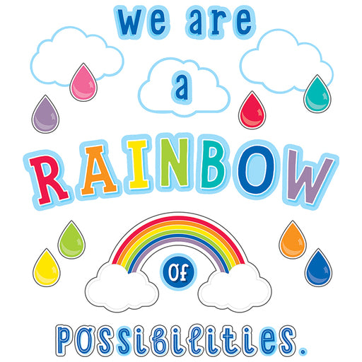 WE ARE A RAINBOW BULLETIN BOARD SET 67 PC
