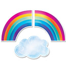 RAINBOWS AND CLOUDS CUT-OUTS 6'' 36 PC