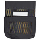 CHAIRBACK BUDDY BLACK WITH GOD POLKA DOTS