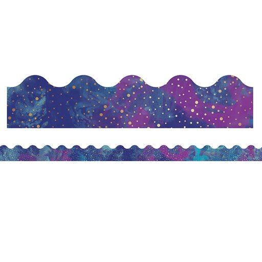 GALAXY SCALLOPED BORDERS 13 PC