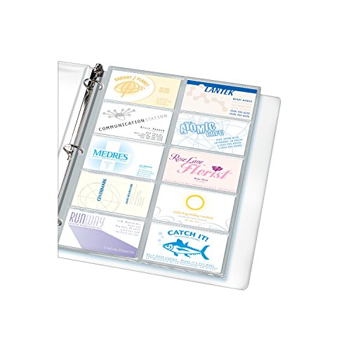 BUSINESS CARD PAGES 200 CARD SLOTS PQ.10