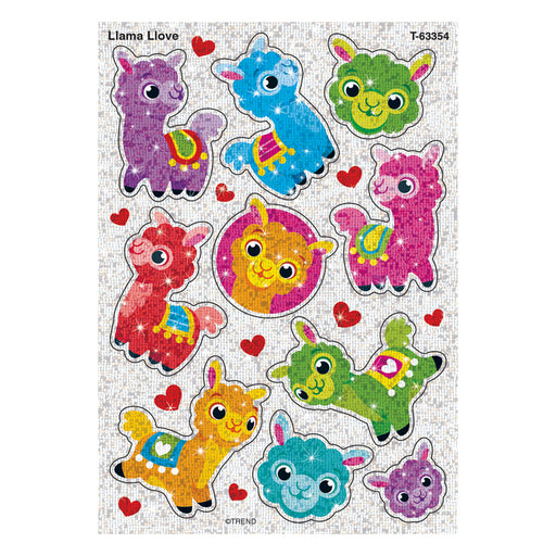 LLAMA LOVE SPARKLE STICKERS