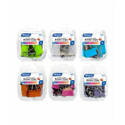 BINDER CLIP ASSORTED SIZES AND COLORS PQ.12