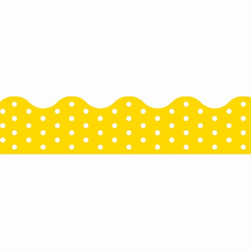 BORDER POLKA DOTS YELLOW
