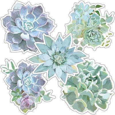 SIMPLY STYLISH SUCCULENTS CUT-OUTS 36 PC