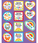 GOD'S LOVE SHAPE STICKERS 72 STICKERS
