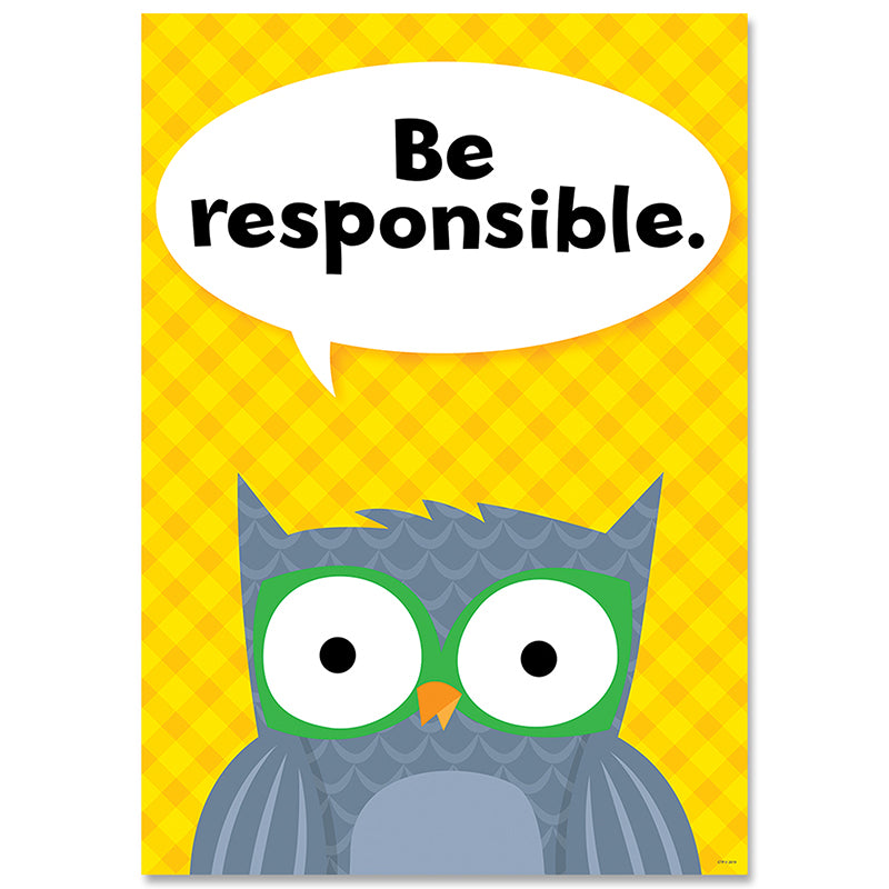 "BE RESPONSIBLE. WOODLAND POSTER 13"" X 19"""