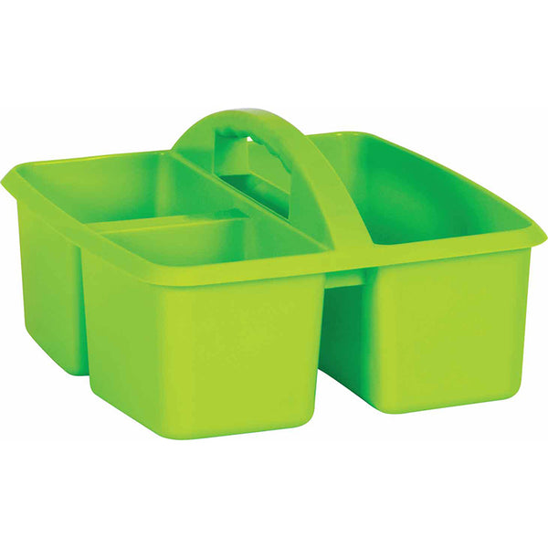 PLASTIC STORAGE CADDIES LIME