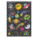 SPARKLY SPACE STICKERS 36PCS