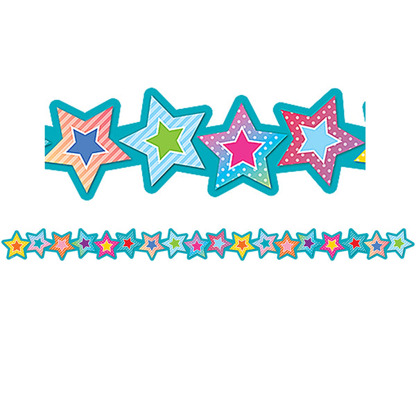 COLORFUL VIBES STARS DIE-CUT BORDER