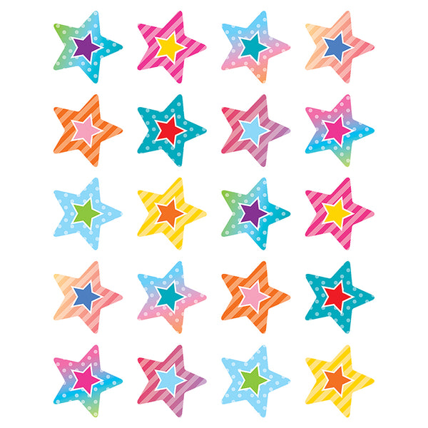COLORFUL VIBES STARS STICKERS 120 STICKERS
