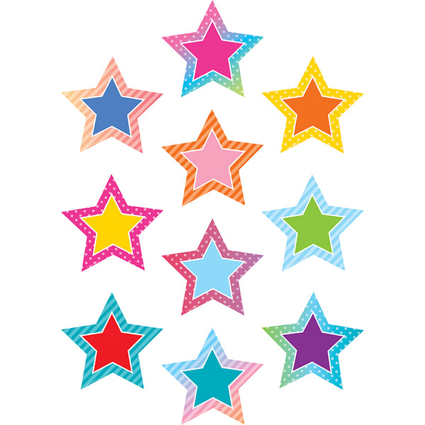 COLORFUL VIBES STARS ACCENTS 30 PC