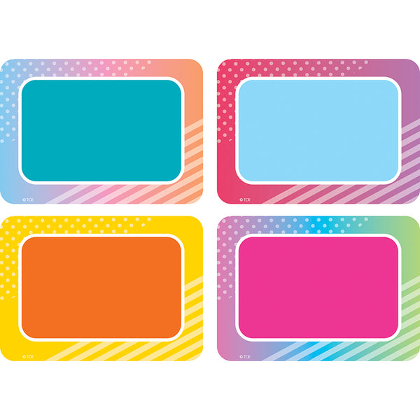 COLORFUL VIBES NAME TAGS 36 PC
