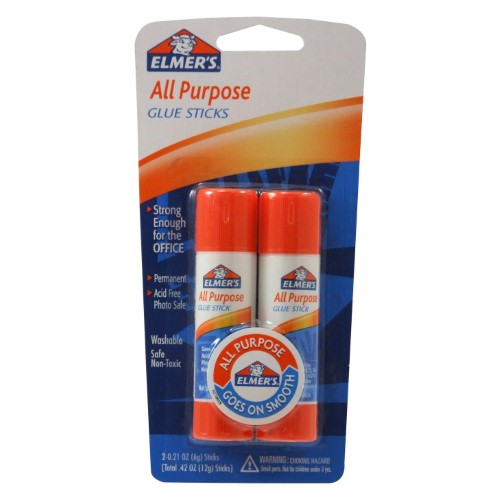 GLUE STICK 6GR ALL PURPOSE PQT.2