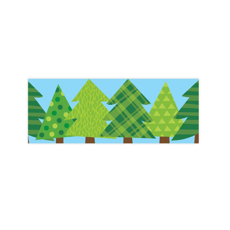 PATTERNED PINE TREES BORDERS
