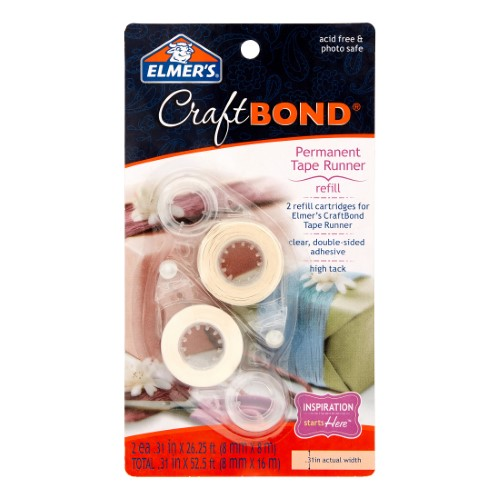 CRAFTBOND PERMANENT TAPE RUNNER REFILL PQT.2