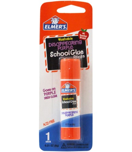 GLUE STICK 6GR WASHABLE SCHOOL GLUE PURPLE