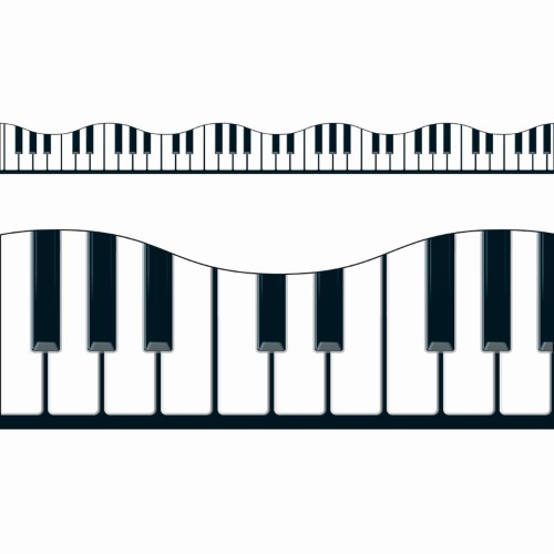 BORDER MUSICAL KEYBOARD