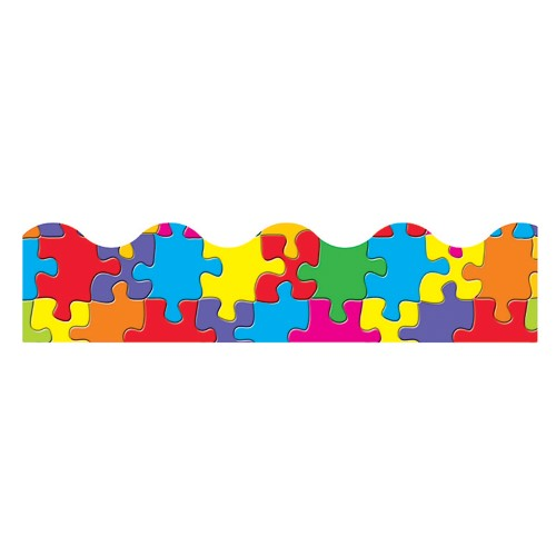 JIGSAW  PUZZLE BORDER SCALLOPED