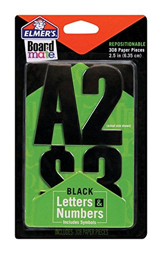 BOARD MATE BLACK LETTERS & NUMBERS PQ.308