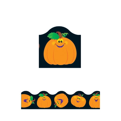 PUMPKIN PALS BORDER SCALLOPED