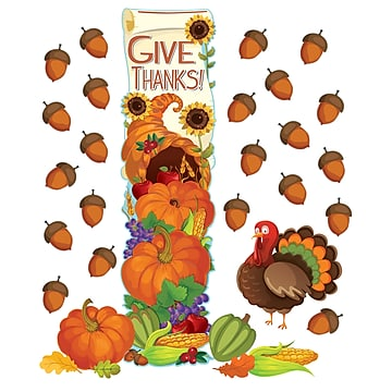 THANKSGIVING ALL-IN-ONE DOOR DECOR KIT 32 PC