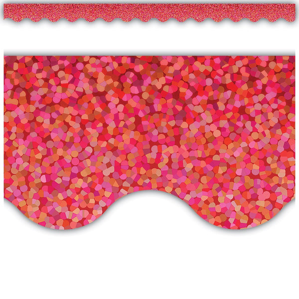 RED SPARKLE BORDER 12 PC