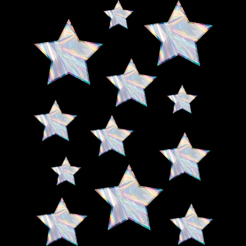IRIDESCENT STARS CUT OUT