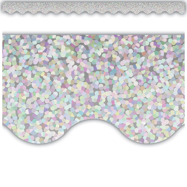 SILVER SPARKLE BORDER 12 PC