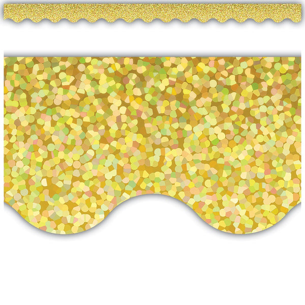YELLOW SPARKLE BORDER 12 PC