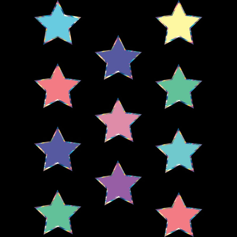 IRIDESCENT STAR MINI CUT OUT 36 PC