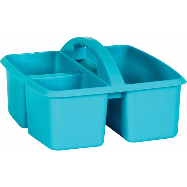 PLASTIC STORAGE CADDIES TEAL