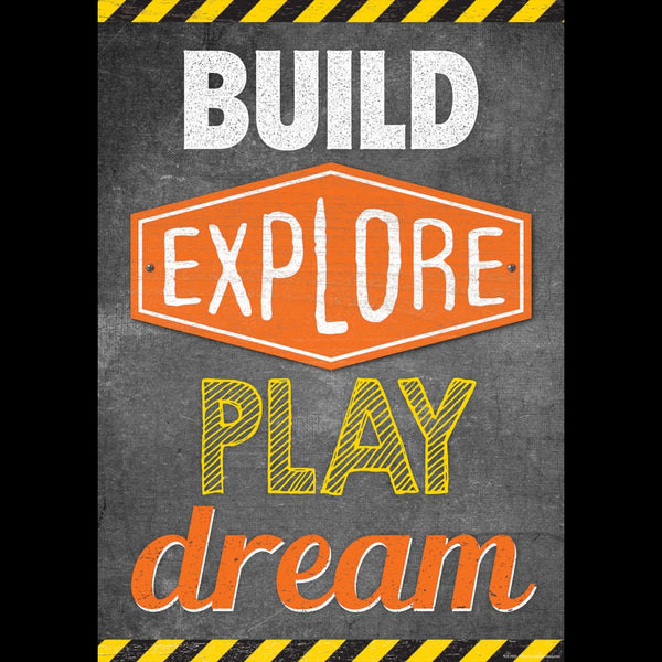 "BUILD, EXPLORE, PLAY, DREAM... POSTER 13"" X 19"""