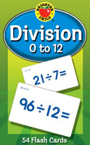 DIVISION 0 TO 12 FLASH CARDS 54 PC