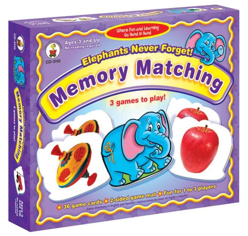 ELEPHANTS NEVER FORGET: MEMORY GAME 36 CARDS