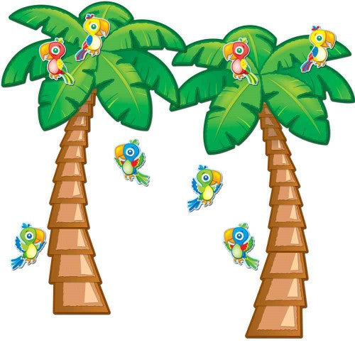 BULLETIN BOARD SET TROPICAL TREES 38 PC