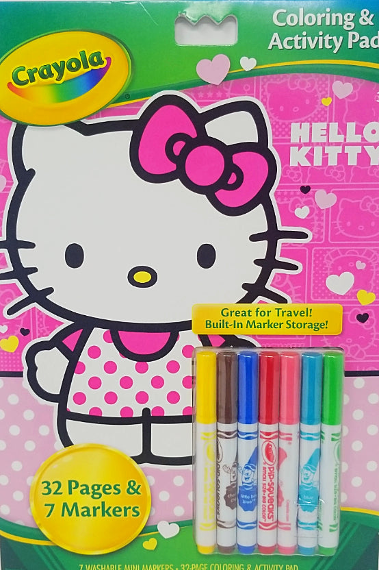 COLORING & ACTIVITY PAD W/MARKRS HELLO KITTY