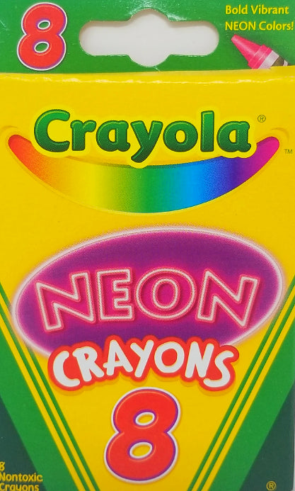 CRAYONS 8 NEON COLORS