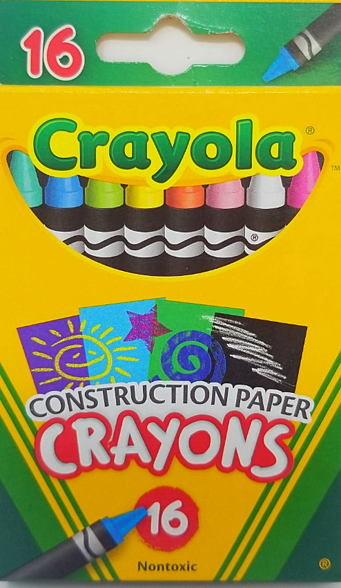 CONSTRUCTION PAPER CRAYONS 16