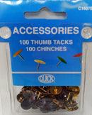 THUMB TACKS BROWN C1607B