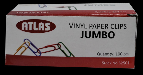 PAPER CLIPS JUMBO VYNIL COLOR PQ.100