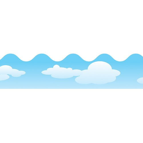 BORDERS CLOUDS SCALLOPED 13 PC