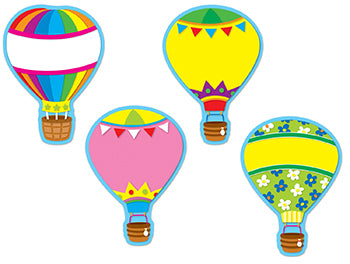 COLORFUL CUT-OUTS HOT AIR BALLOONS