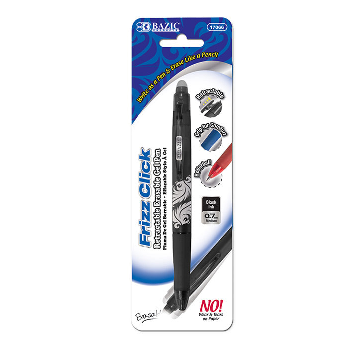FRIZZ BLACK ERASABLE GEL RETRATABLE PEN