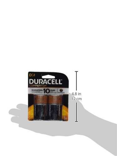 DURACELL COPPERTOP ALKALINE D BATTERY PQ.2