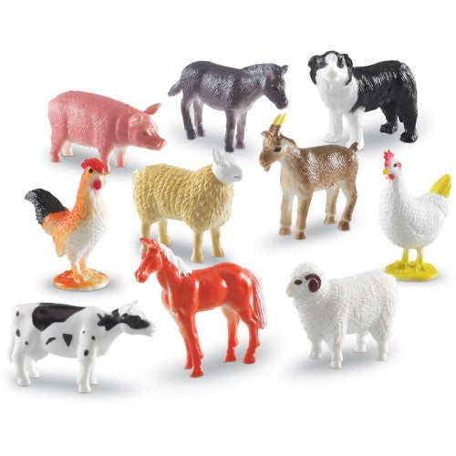FARM ANIMAL COUNTERS SET OF 60