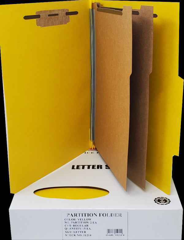 2 PARTITION FOLDER YELLOW LETTER BOX/15