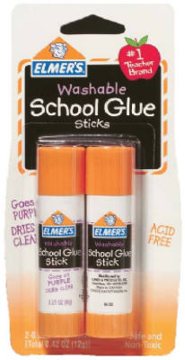 GLUE STICK 6GR WASHABEL SCHOOL GLUE PQT.2