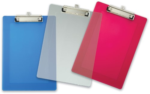 PLASTIC CLIPBOARD ASSORTED COLOR LETTER